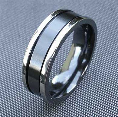 unusual mens two tone wedding ring love2have in the uk - Unusual Mens Wedding Rings