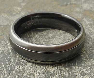 Two tone wedding ring for men