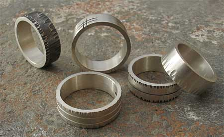 uk made mens silver rings