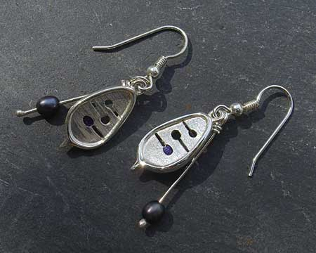 Unique Celtic hook earrings