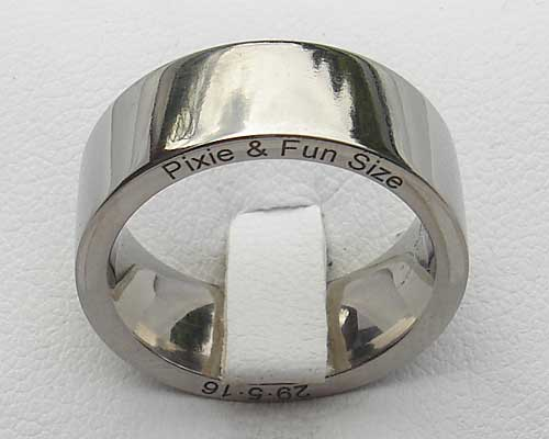 Unique personalised wedding ring