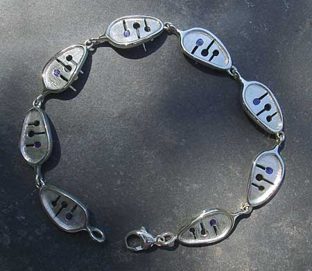 Unique silver Celtic bracelet