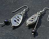 Unique silver Celtic hook earrings