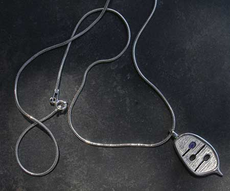 Unique silver Celtic necklace