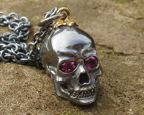 Unique Silver Skull Necklace