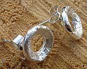 Unique earrings in silver
