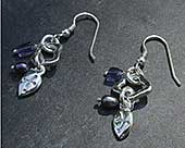 Unusual Celtic hook earrings