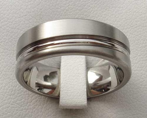 Unusual Contemporary Titanium Wedding Ring