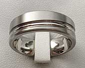 Designer titanium wedding ring