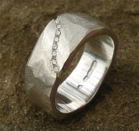 Unusual Diamond Silver Ring For Women ONLINE In The UK