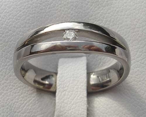 Unusual Diamond Titanium Engagement Ring Uk