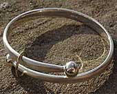 Unusual gold and silver bracelet
