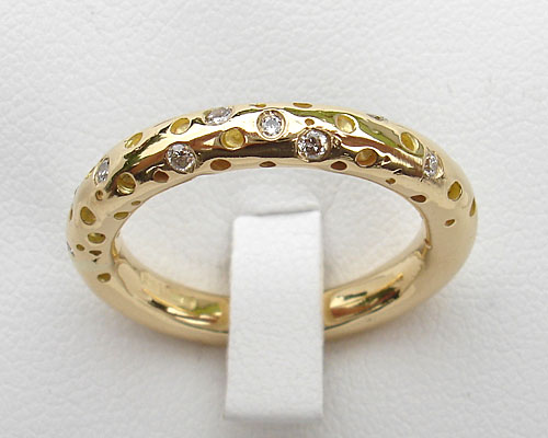 Unusual Gold Diamond Eternity Ring