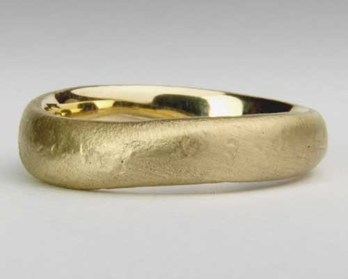 Unusual Handmade Gold Wedding Ring LOVE2HAVE in the UK