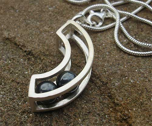 Womens Unusual Handmade Silver Necklace