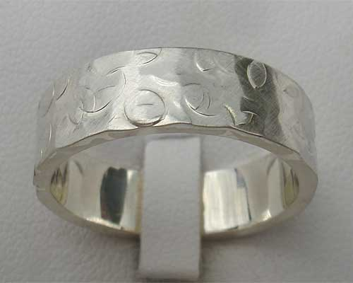 Mens Unusual Sterling Silver Ring