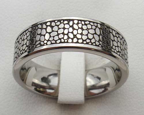 Mens Unusual Titanium Ring
