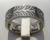 Unusual titanium ring