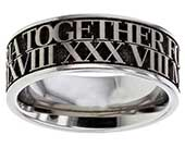 Unusual personalised wedding ring