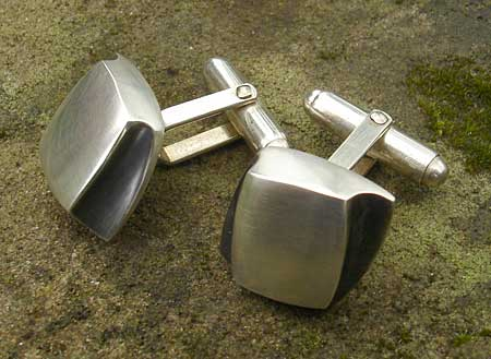 unusual silver cufflinks