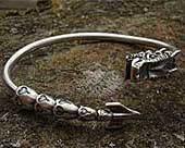 Unusual silver dragon bracelet