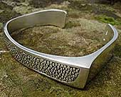 Unusual silver Gothic bracelet