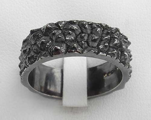 Unusual Silver Gothic Ring