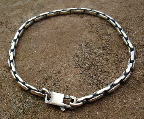 Unusual Silver Chain Bracelet For Men