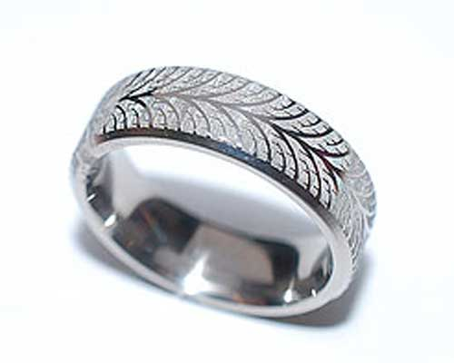 Unusual Titanium Ring For Men