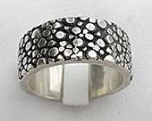 Silver gothic ring