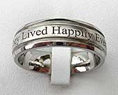 Outer engraved wedding ring