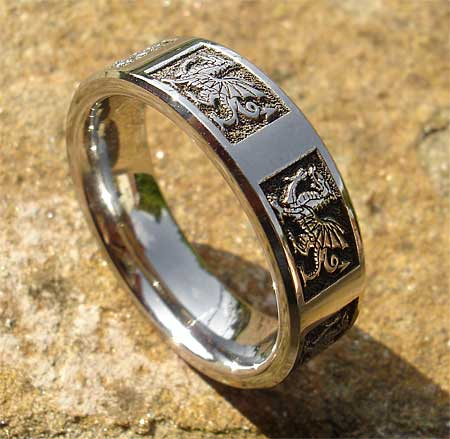 Welsh Dragon Ring In Titanium Love2have In The Uk