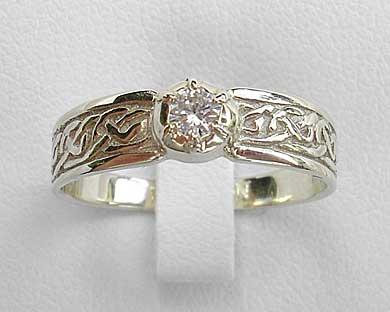 scottish celtic diamond enement ring love2have in the uk - Scottish Wedding Rings