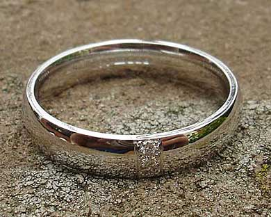 Womens White Gold Diamond Wedding Ring LOVE2HAVE in the UK