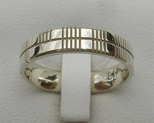 wedding gaelic rings ogham ring celtic band