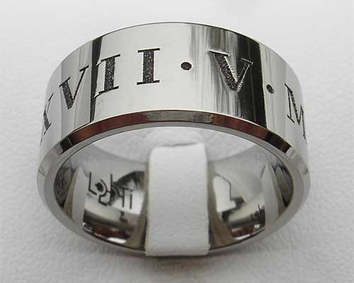 Mens Personalised Roman Numerals Ring