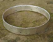 Women's handmade silver bangle