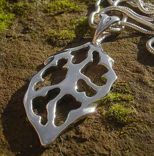 Womens Alternative Silver Necklace