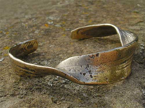 Womens Unusual Bronze Bracelet
