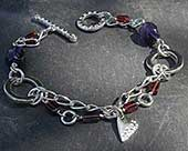 Womens silver celtic bracelet