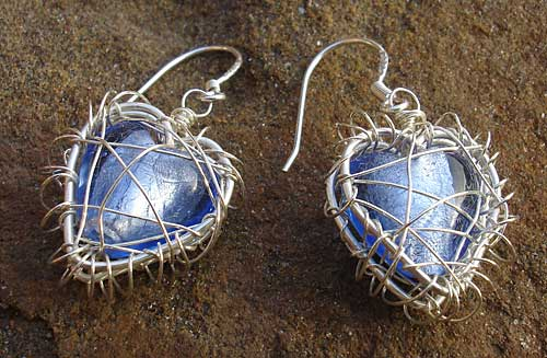 Contemporary Heart Shaped Earrings