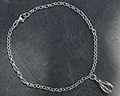 Women's contemporary silver bracelet