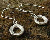 Designer silver drop earrings