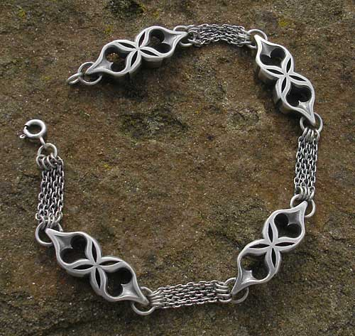 Womens Unusual Sterling Silver Bracelet