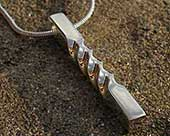 Womens designer silver necklace
