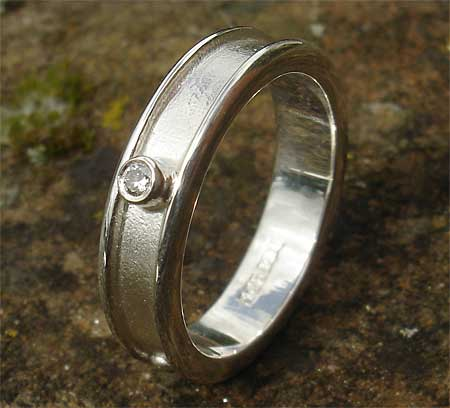 Womens Unique Silver Celtic Ring
