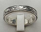 Women's Gothic silver ring