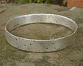 Handmade silver diamond bangle