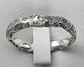 Womens textured silver ring