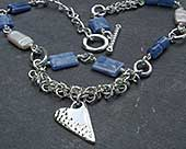 Womens modern Celtic necklace